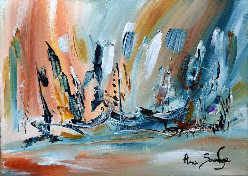 Ame sauvage artiste peintre contemporain de style abstrait - Peintre qui s est coupe l oreille ...