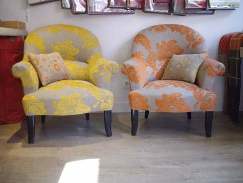 Galerie virtuelle atelier ozon decor tapissier decorateur for Formation decorateur interieur avec canapé et fauteuil en cuir