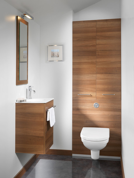 Meuble universel pour wc suspendu a lto d 39 ambiance bain for Decoration toilettes design