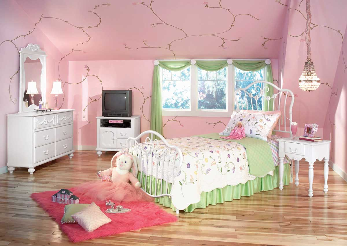 peinture pour chambre de fille. Black Bedroom Furniture Sets. Home Design Ideas