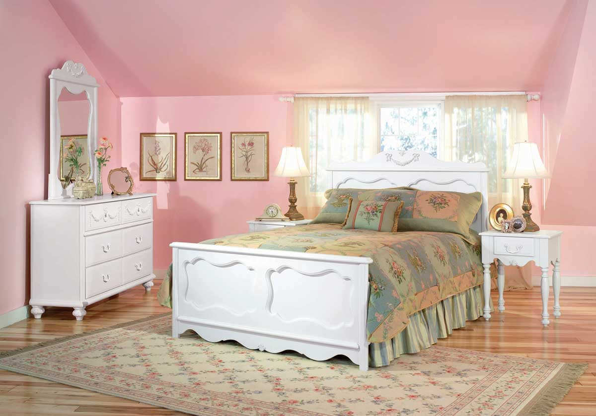 d coration chambre fille romantique. Black Bedroom Furniture Sets. Home Design Ideas