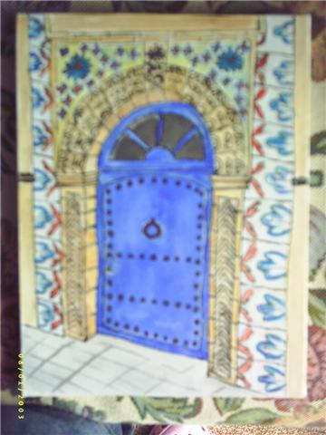 Galerie virtuelle bonneric catherine peintre amateur for Decoration porte marocaine